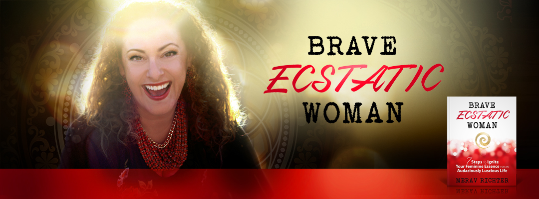 Brave Ecstatic Woman